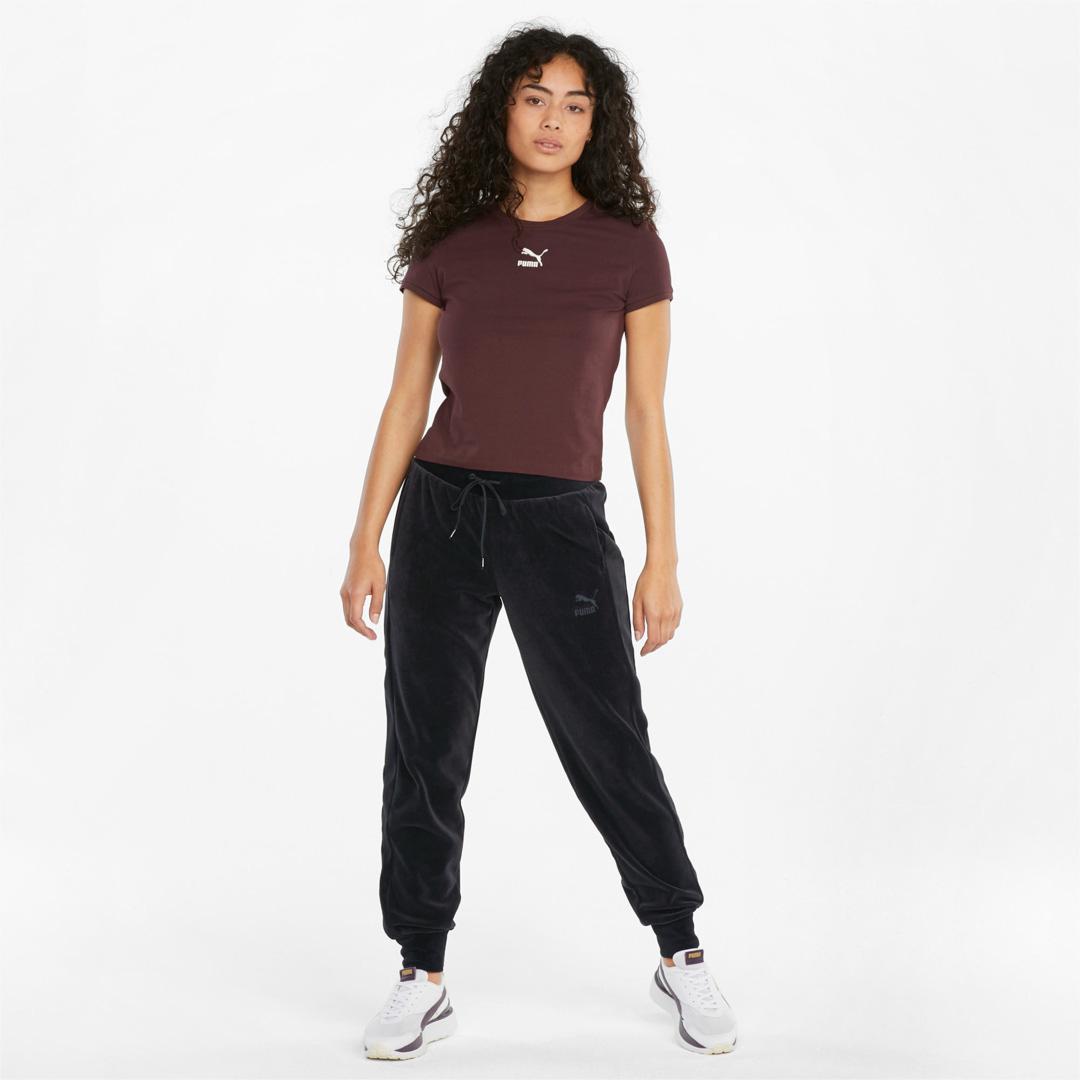 PUMA Iconic T7 Φόρμα Αθλητική Γυναικεία Βελούδινη - Μαύρη (531620-01)