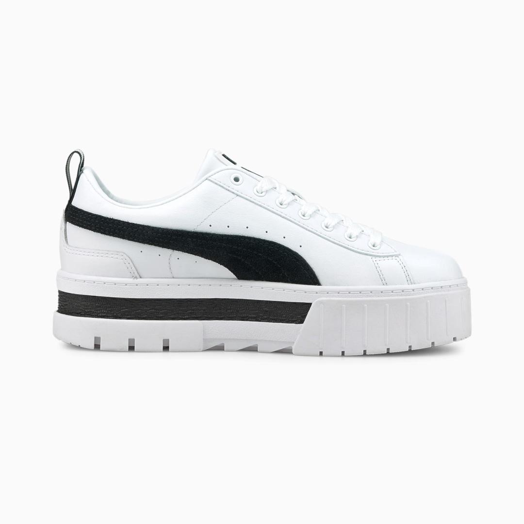 PUMA Mayze Δερμάτινα Παπούτσια Αθλητικά Γυναικεία - Λευκό (381983-01)