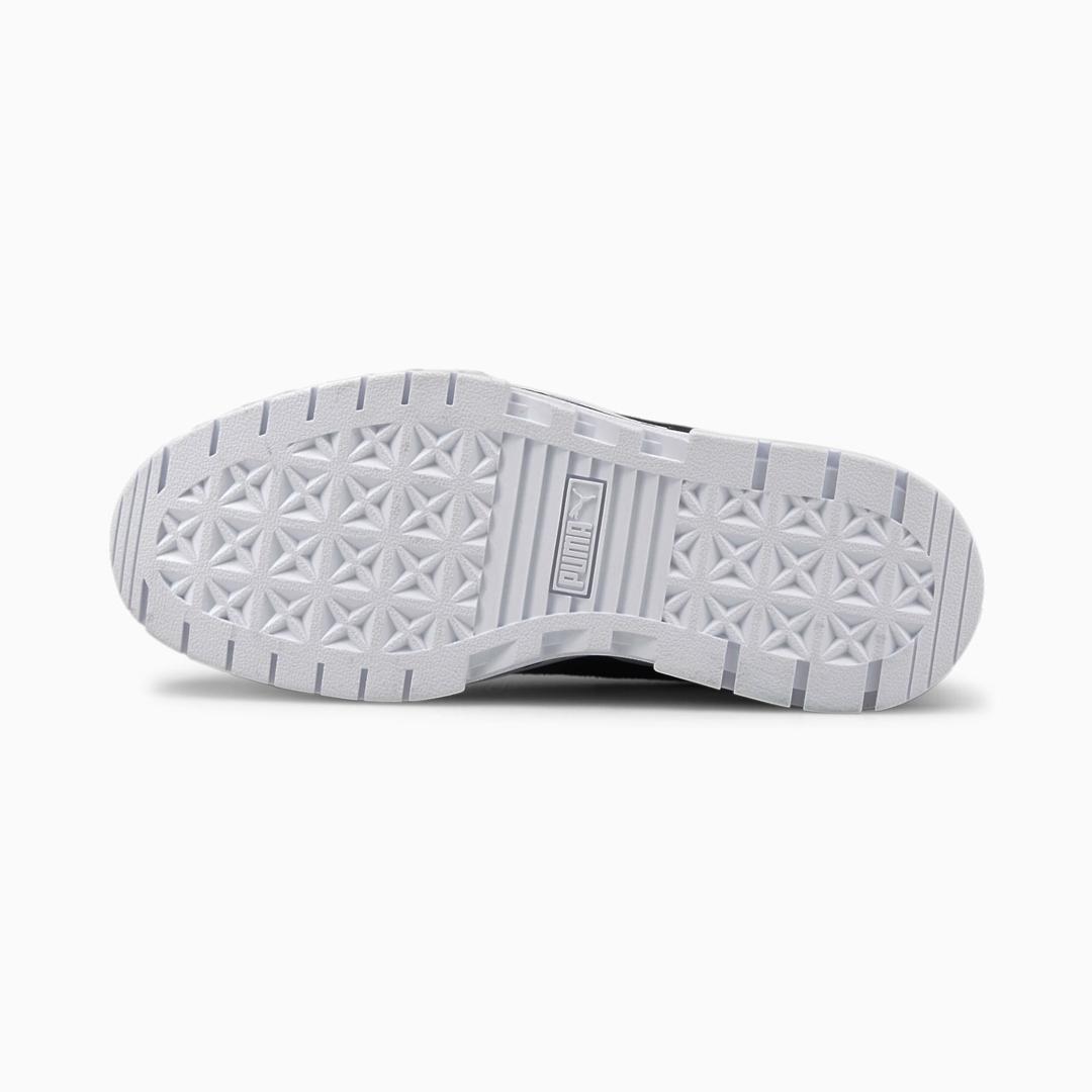 PUMA Mayze Leather Women Sneakers - White/ Black (sole)