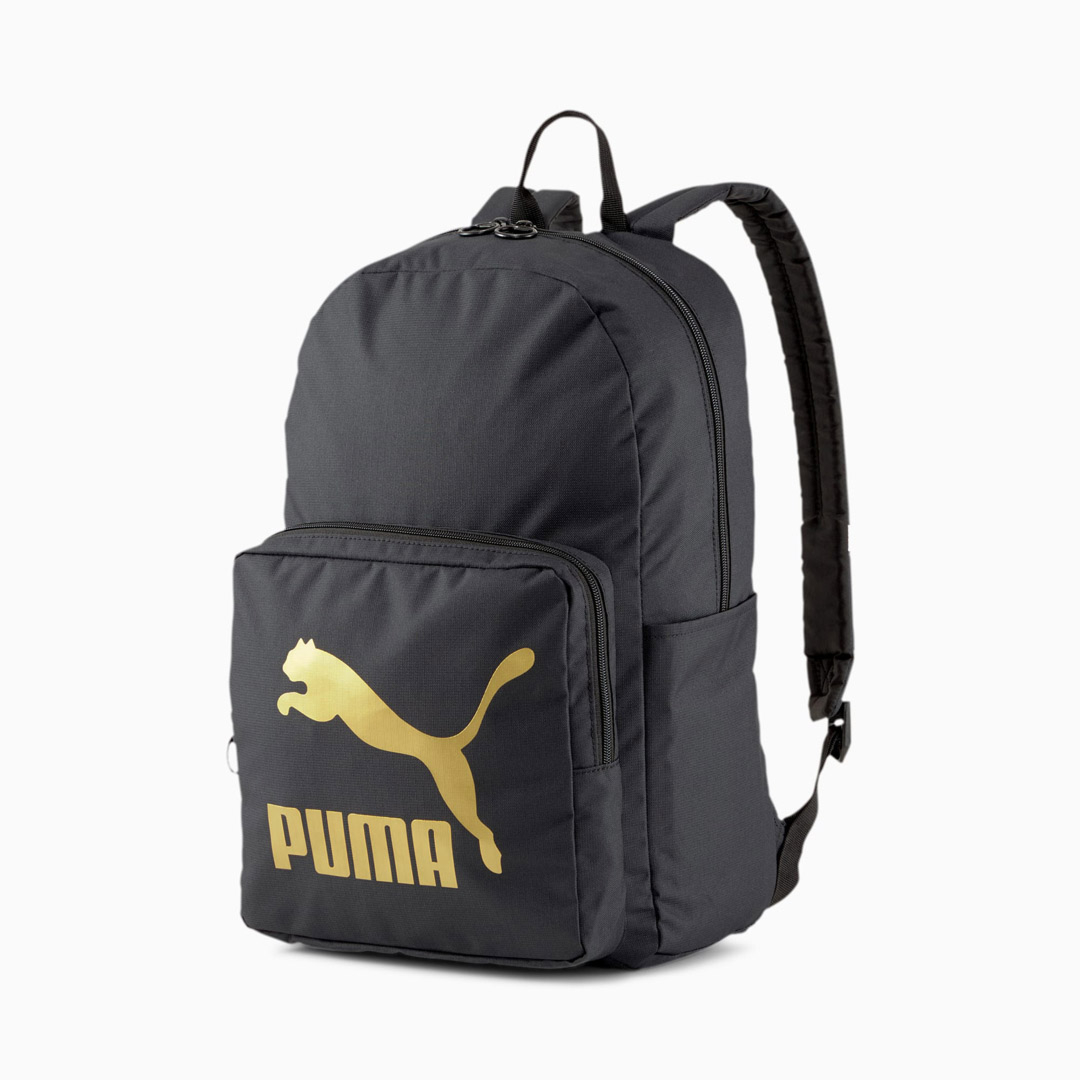Puma Originals Backpack - Black/ Gold (077353-01)