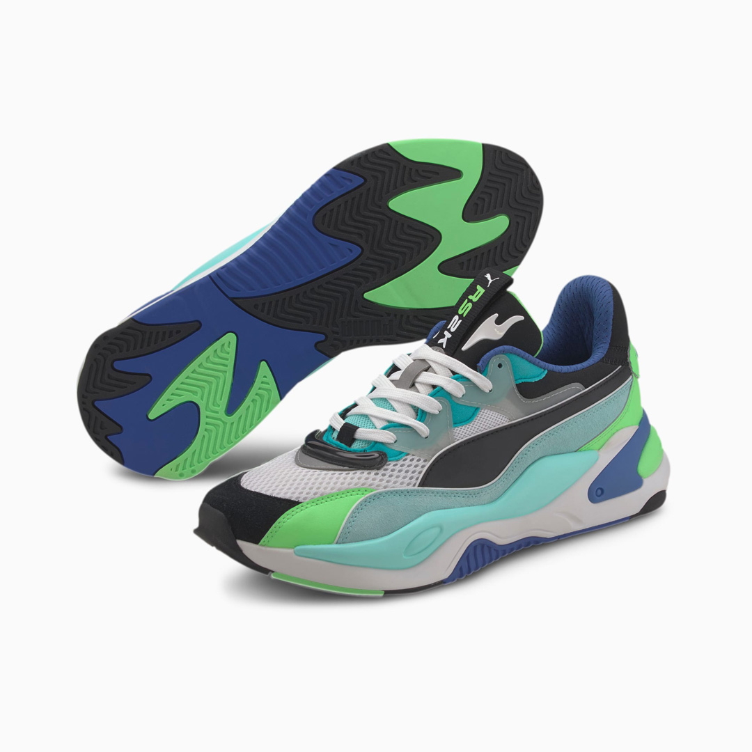 PUMA RS-2K Internet Exploring Trainers - Black/ Aruba Blue (373309-01)