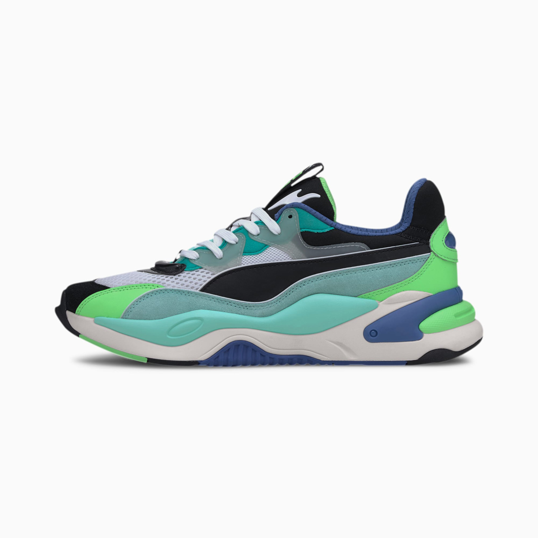 PUMA RS-2K Internet Exploring Sneakers - Black/ Aruba Blue (373309-01)