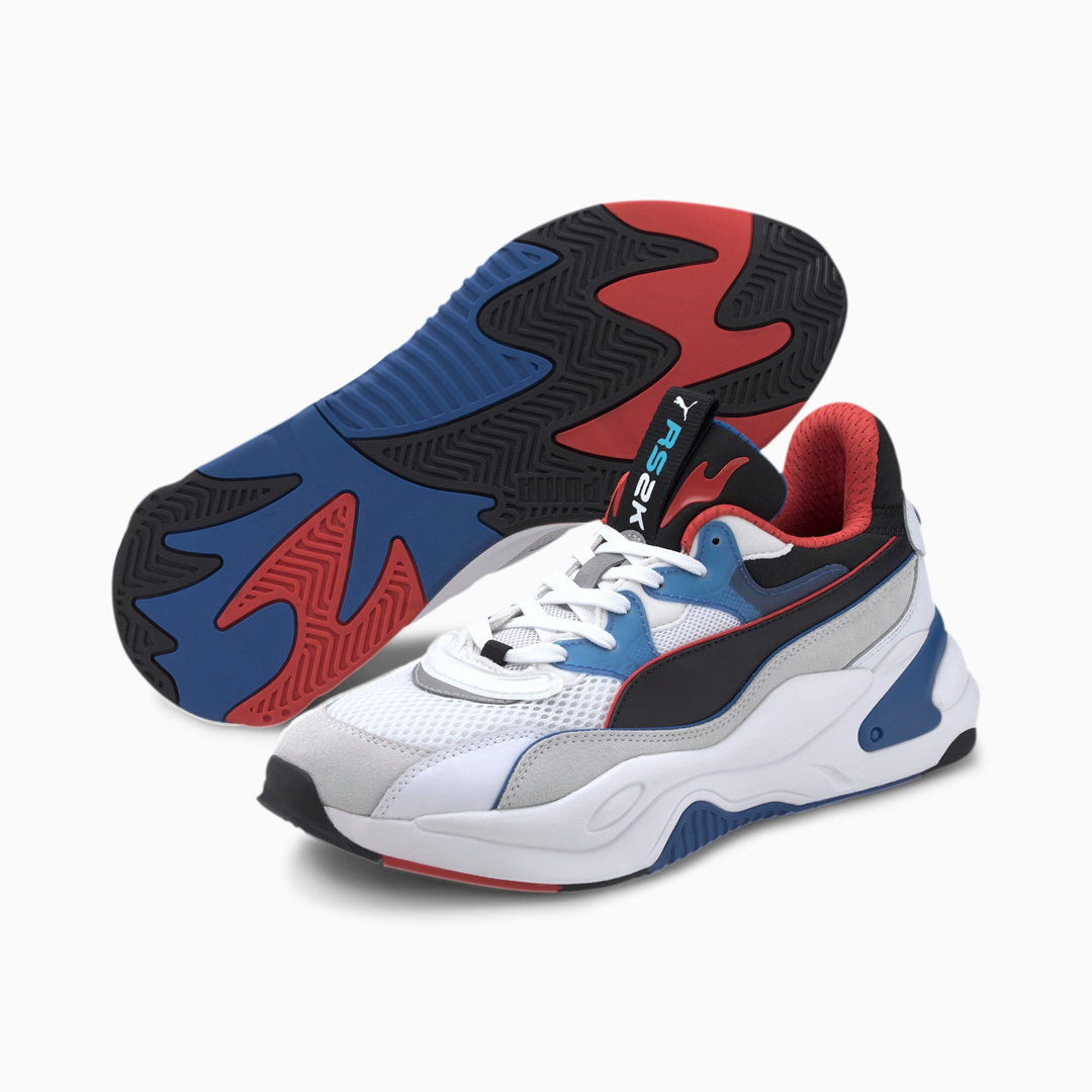 PUMA RS-2K Internet Exploring Trainers - White/ Lapis Blue (373309-04)