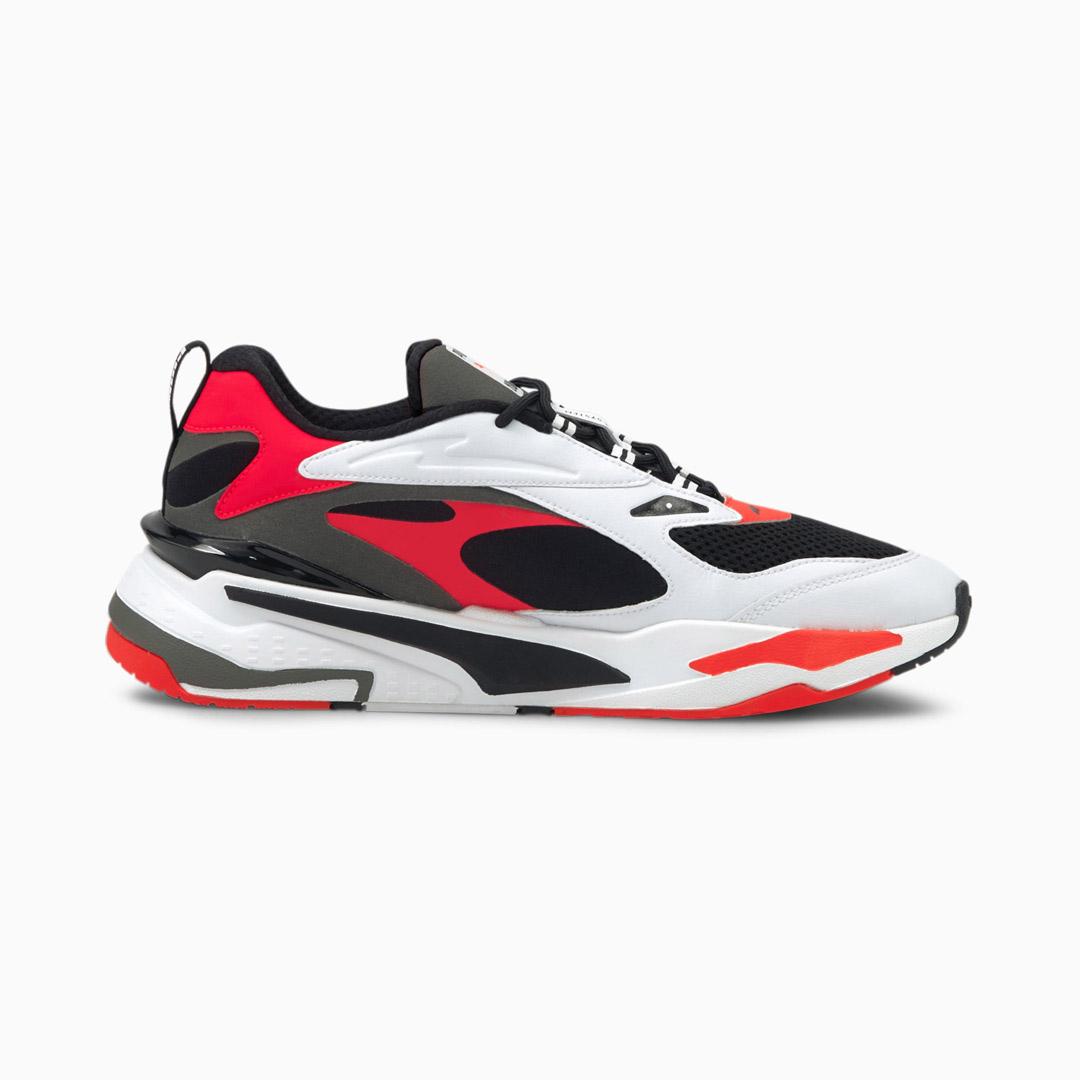 PUMA RS Fast Αθλητικά Παπούτσια Ανδρικά Μαύρο-Ασπρο Κόκκινο (380562-05)