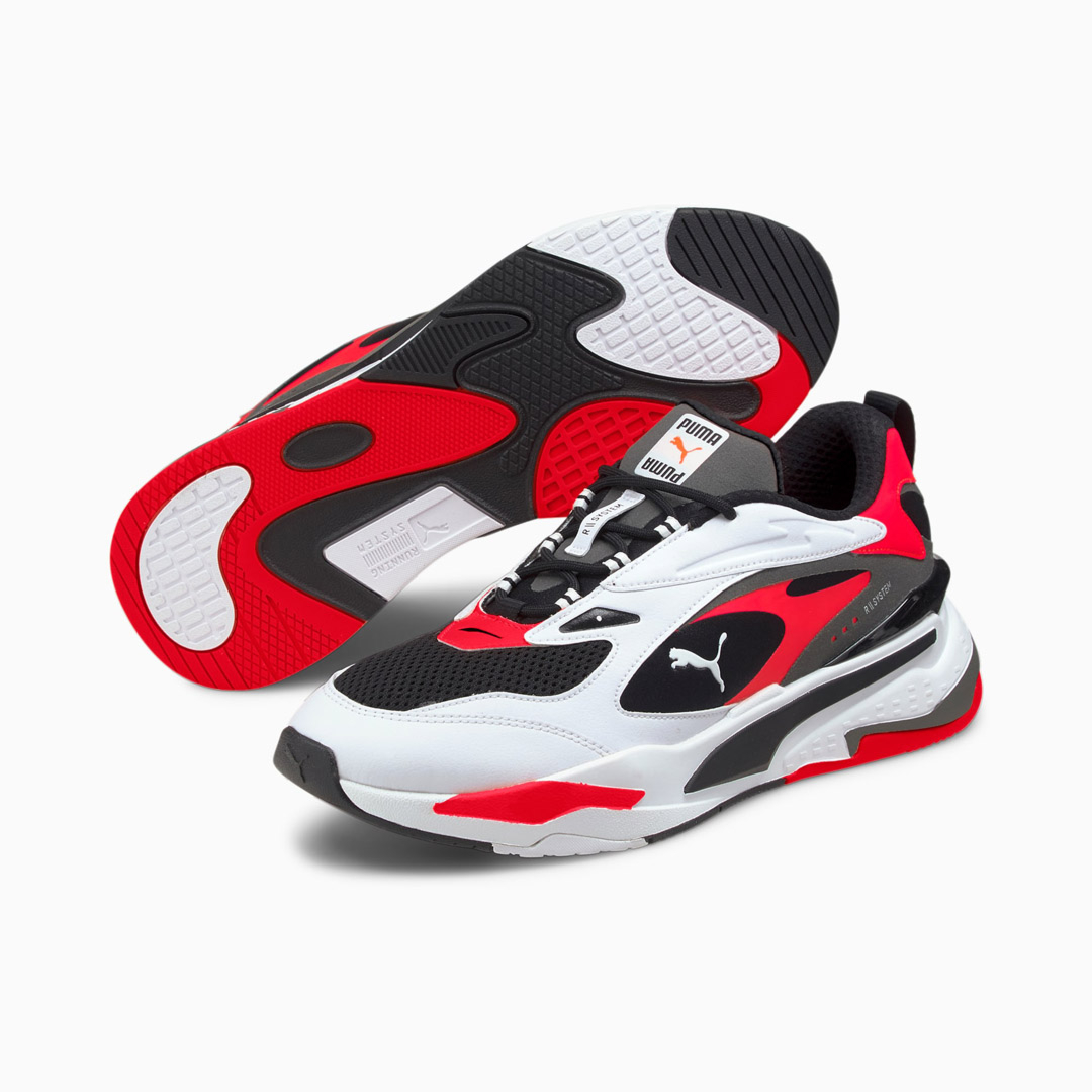 PUMA RS Fast Men Sneakers - Black/ White/ Red Blast (380562-05)