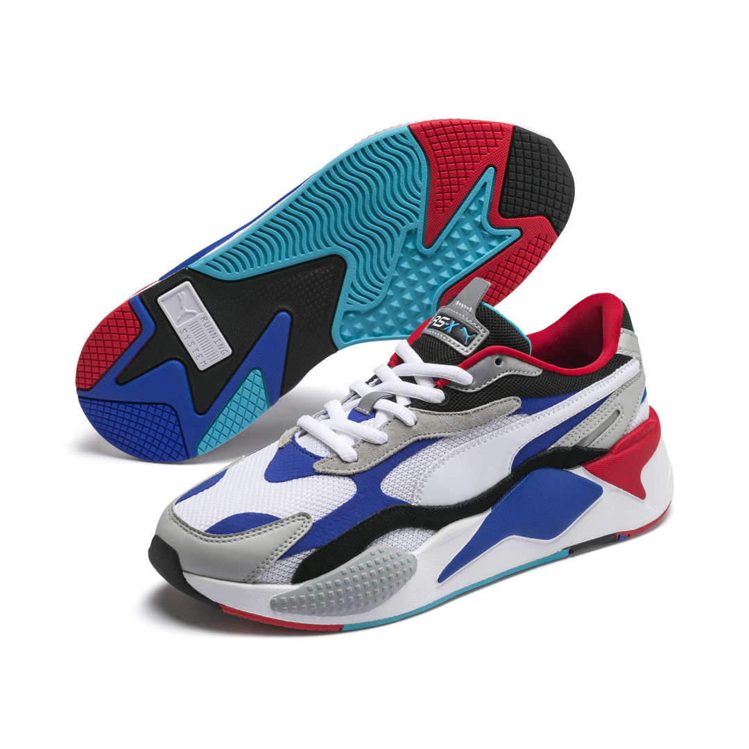PUMA RS-X³ Puzzle Trainers - White/ Dazzling Blue (371570-05)