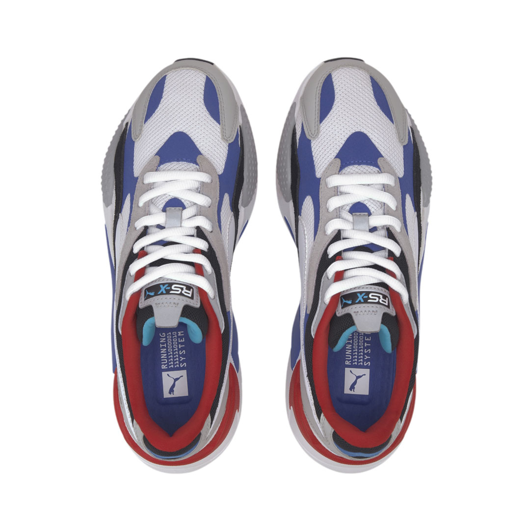 PUMA RS-X³ Puzzle Sneakers - White/ Blue/ Red (371570-05)