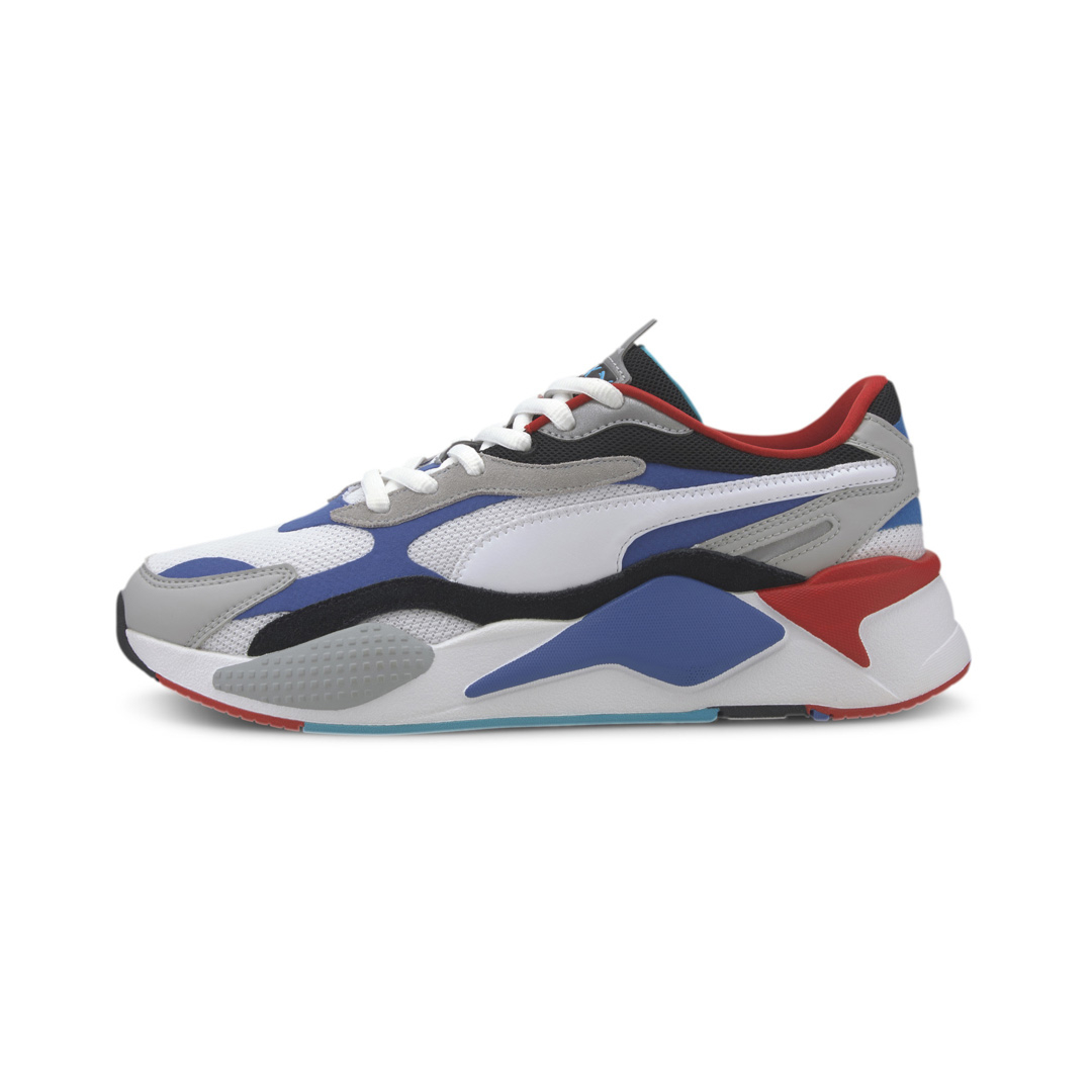 PUMA RS-X³ Puzzle Sneakers - White/ Dazzling Blue (371570-05)