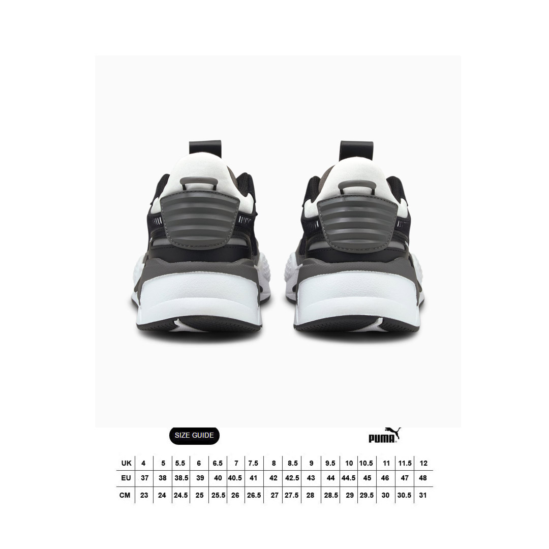 PUMA RS-X Mix Sneakers - Black/ Castlerock (size guide)
