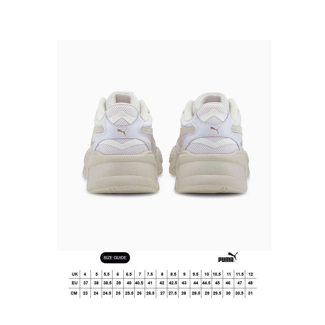 PUMA RS-X³ Luxe Sneakers - White/ Whisper White (size guide)