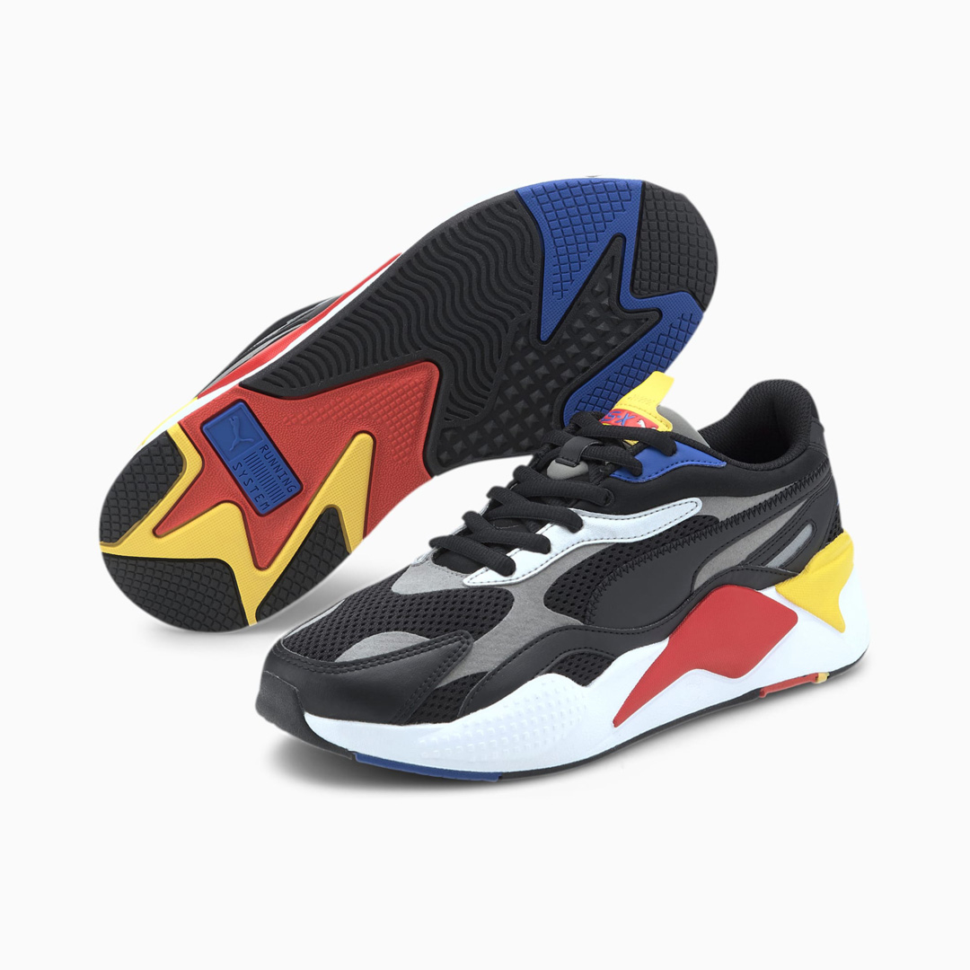 PUMA RS-X³ Millenium Unisex Sneakers - Black/ Hi Risk Red (373236-11)