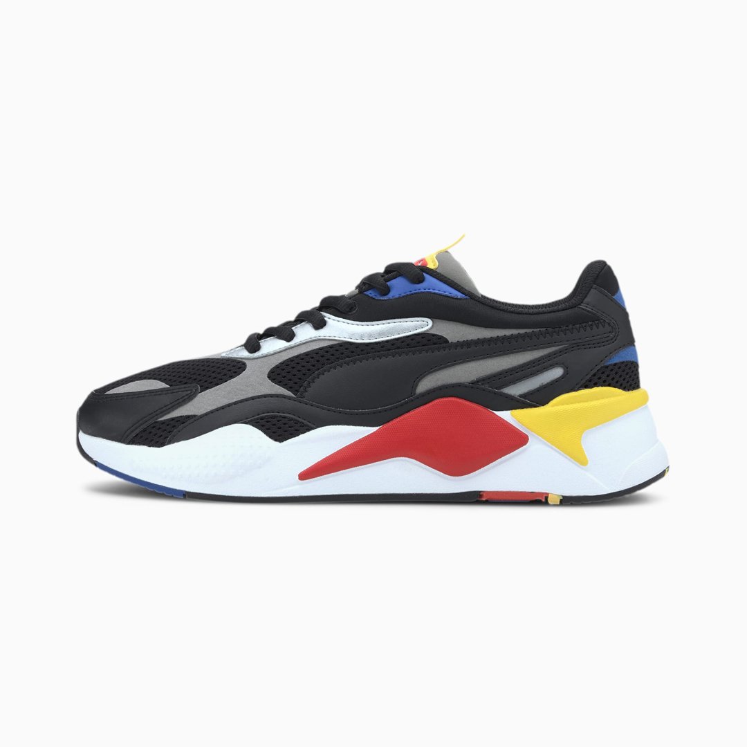 PUMA RS-X³ Millenium Sneakers - Black/ Hi Risk Red (373236-11)