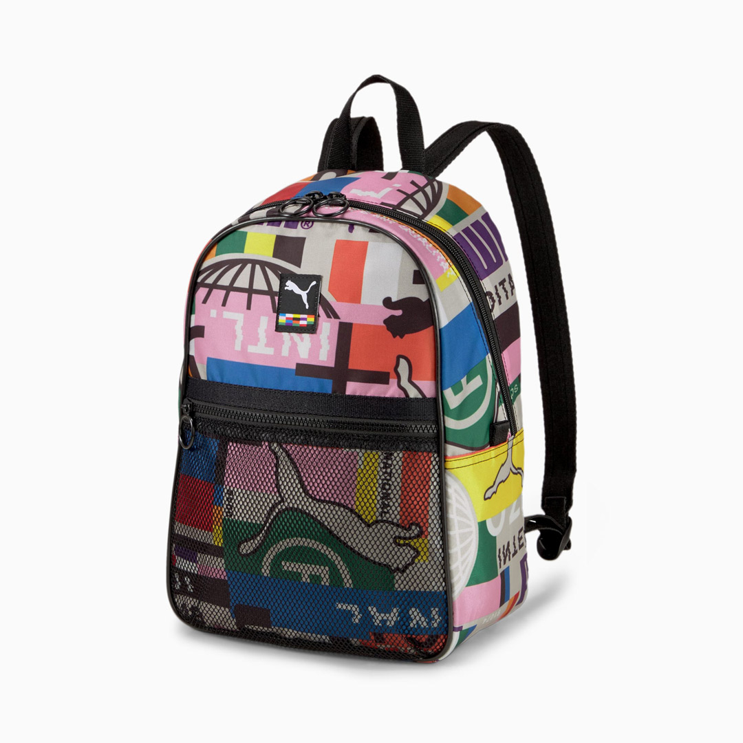 Puma Street Backpack International Printed - Black/ Multi (077952-02)