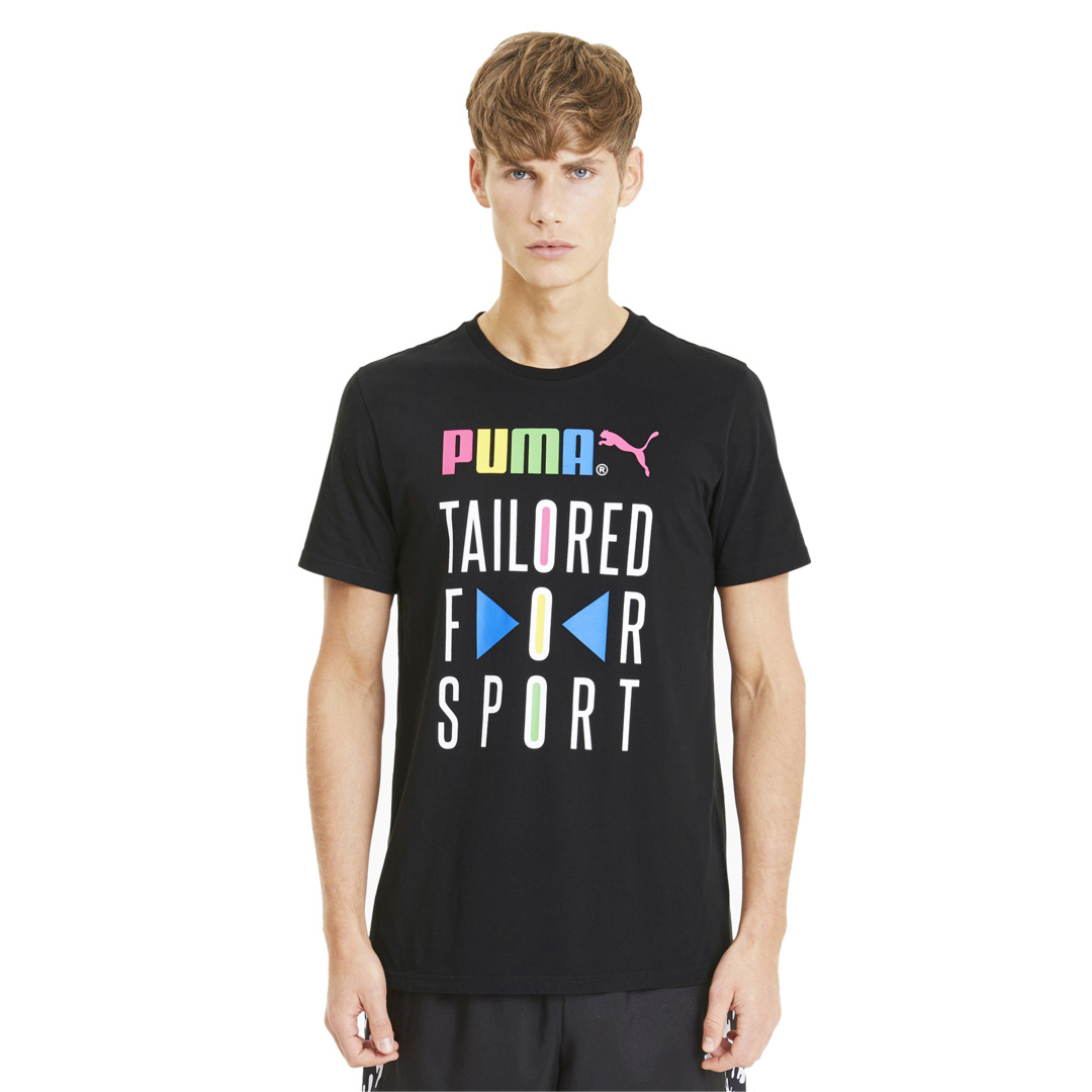 PUMA Tailored for Sport Graphic Tee - Black (597167-01)