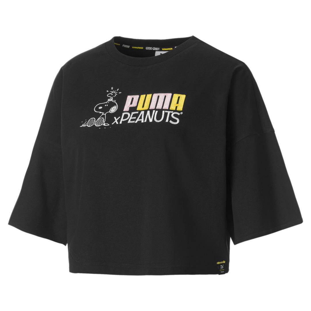 PUMA X Peanuts Women Tee - Black (531158-01)