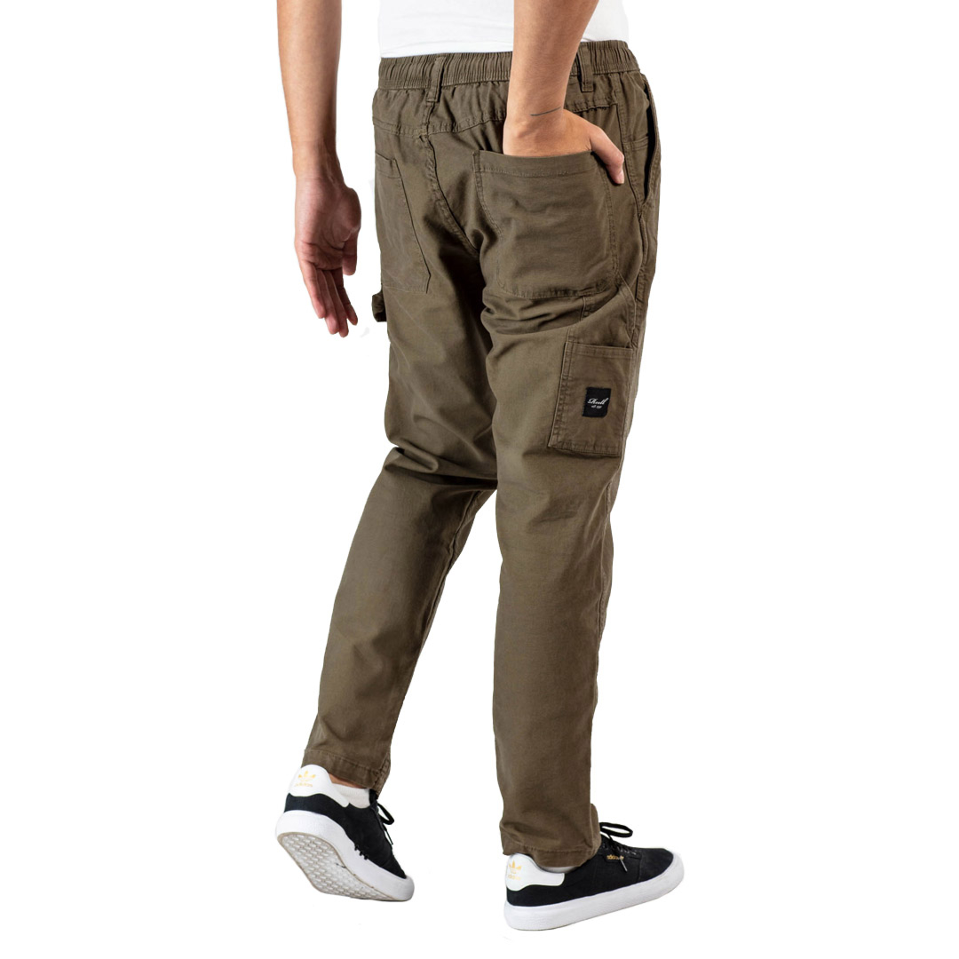 REELL Reflex Worker Men Pants Canvas - Clay Olive (RLJ19516)