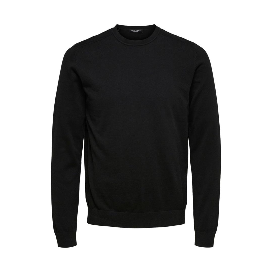 SELECTED Berg Men Knitted Jumper in Black (16074682)