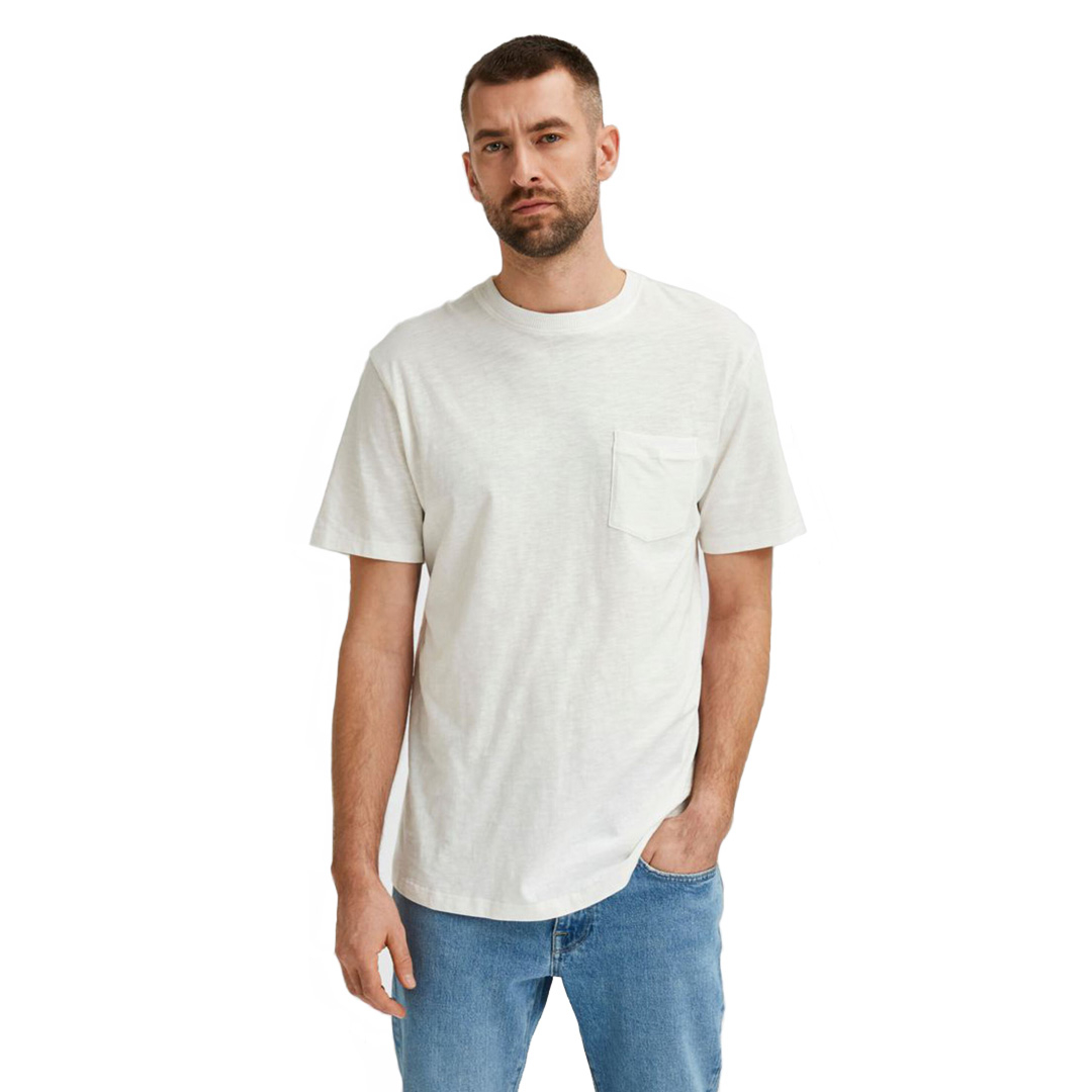 SELECTED Carlos Chest Pocket Tee (16077329-Egret)