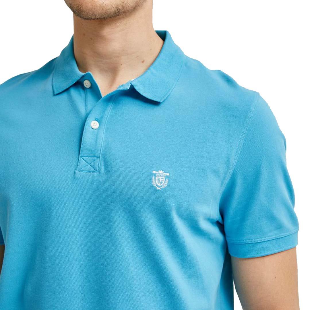 SELECTED Haro Embroidery Polo (16049517-Horizon Blue)