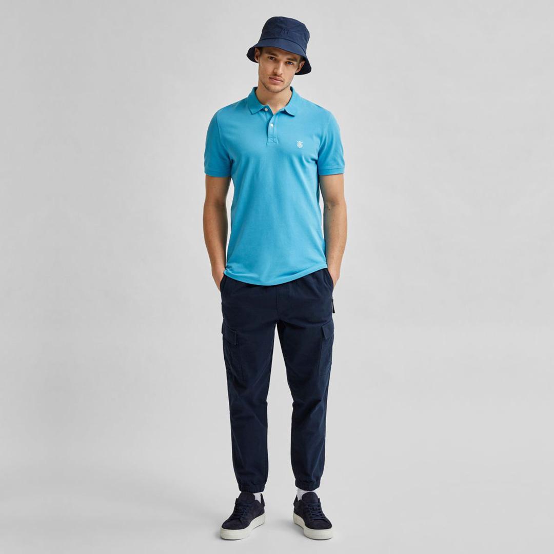 SELECTED Polo Μπλουζάκι Ανδρικό Τυρκουάζ (16049517)