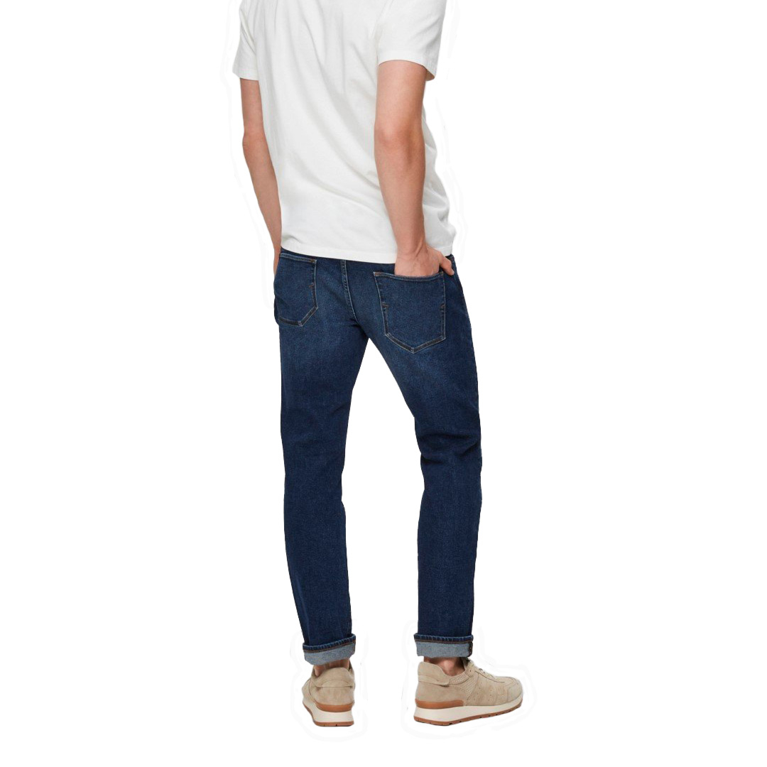 SELECTED Leon Jeans Slim - Dark Blue (16075652)