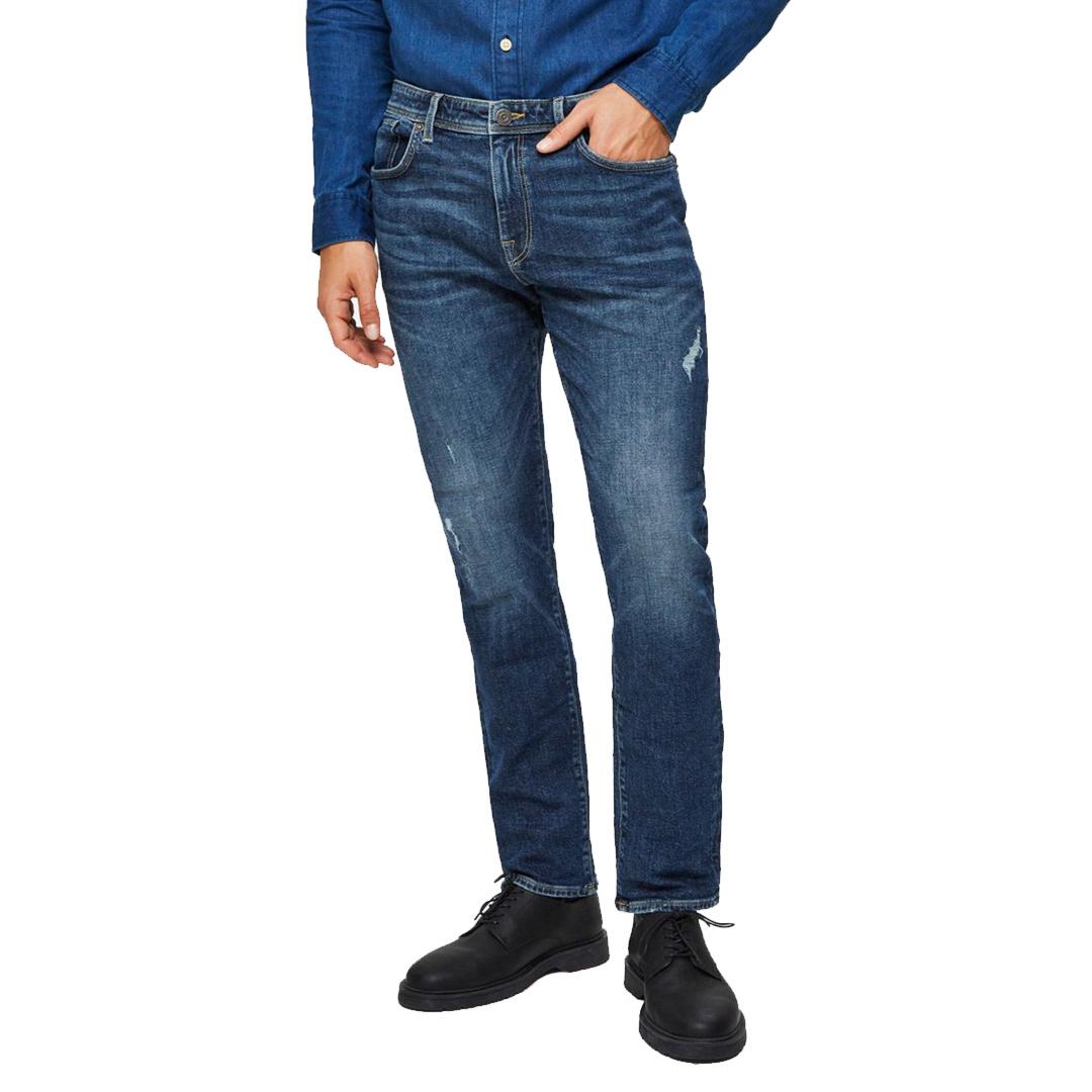 SELECTED Leon Jeans Slim Tapered - Medium Blue (16075446)
