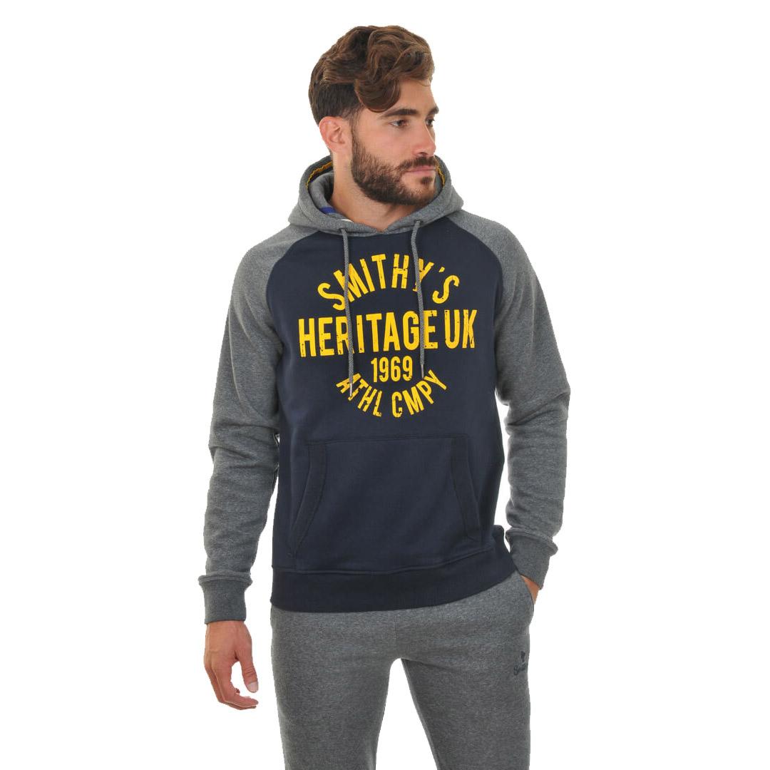 Smithy's Heritage Raglan Sleeve Men Hoodie - Navy (SMS-15207)