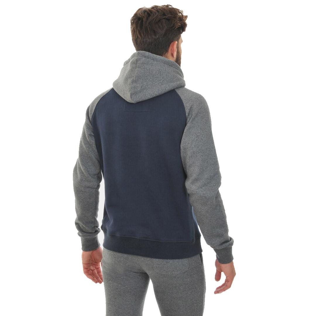 Smithy's Heritage Raglan Sleeve Men Hoodie - Navy (back)