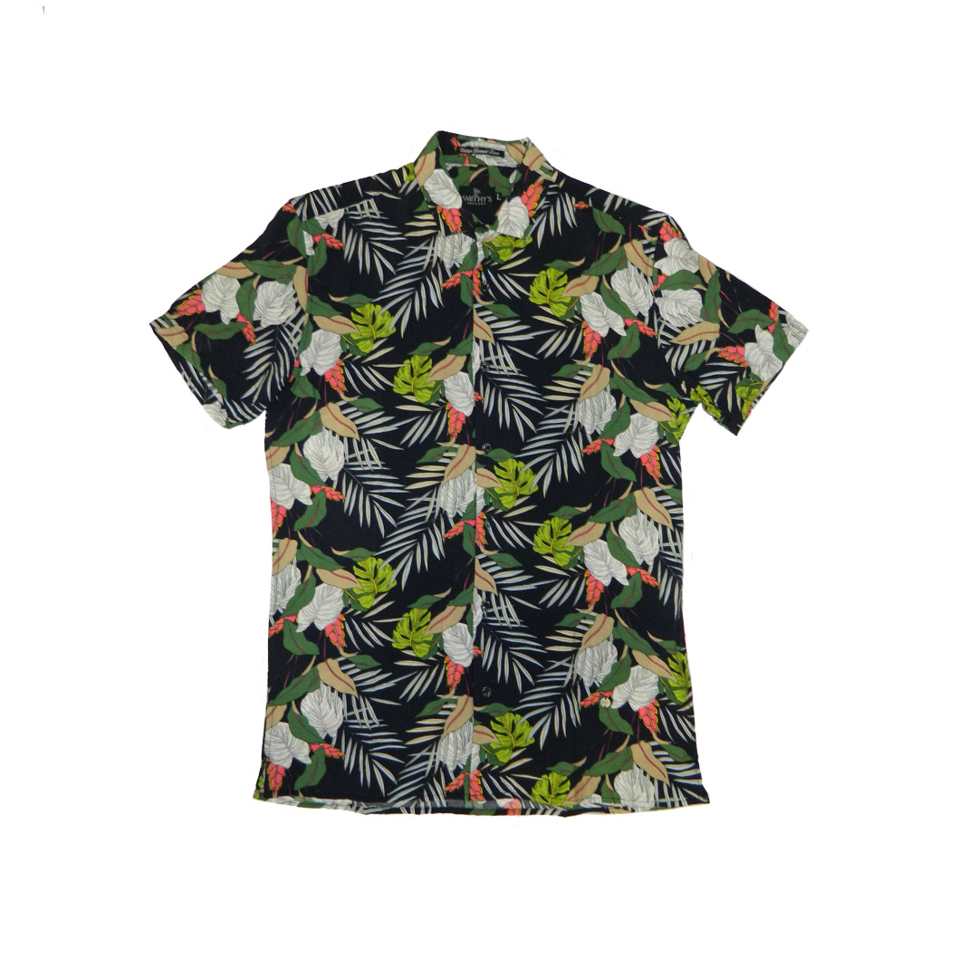 Smithy's Floral Men Shirt - Navy (SMS20-407)