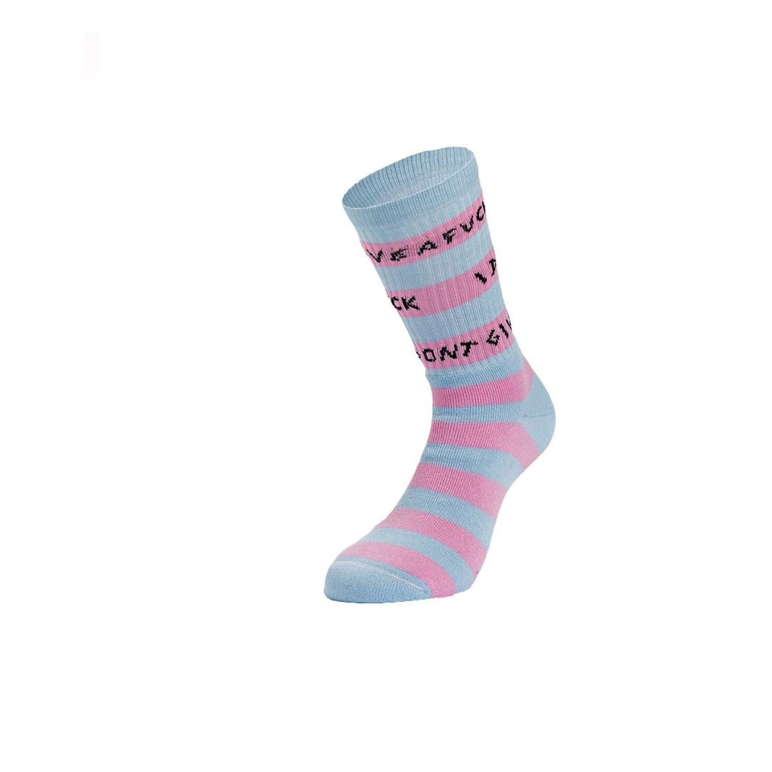 SOCK ING Stripes Retro Κάλτσες - Baby Blue/ Pink (S30218-10)