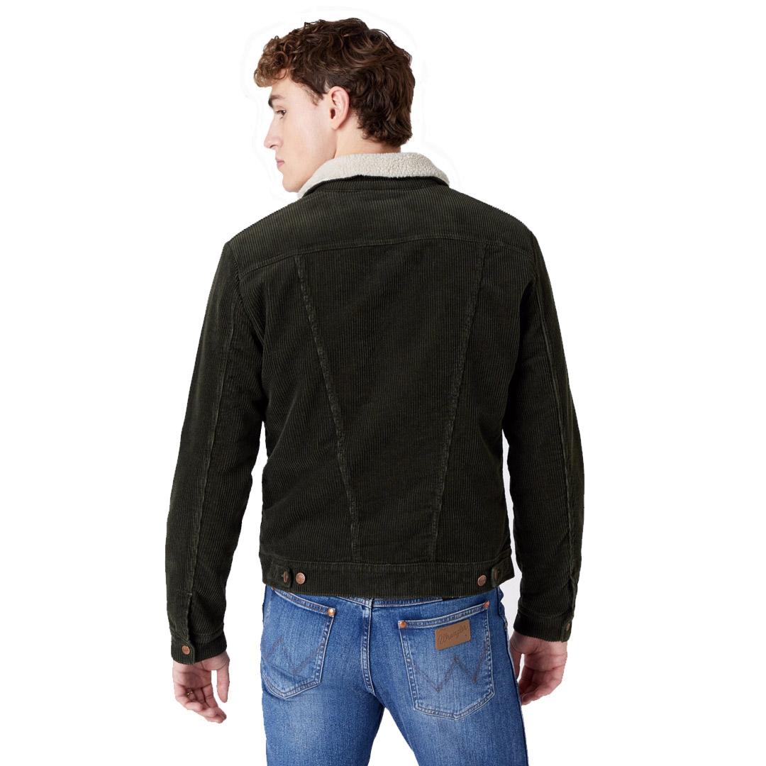 WRANGLER 124MJ Sherpra Cord Jacket Men - Roisin Green (W4MSUPXWY)