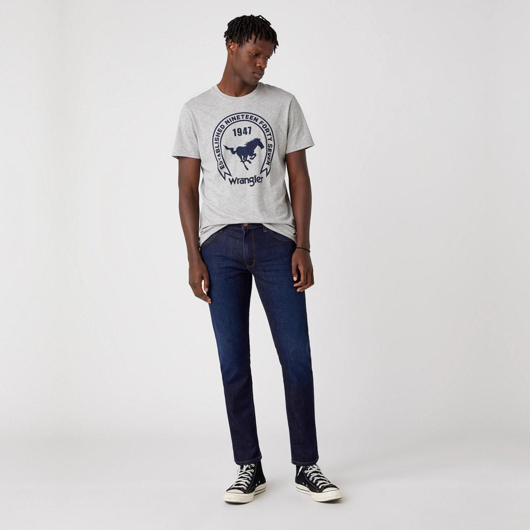 WRANGLER Americana Μπλουζάκι Αντρικό Γκρί Μελανζε (W7AGD3X37)