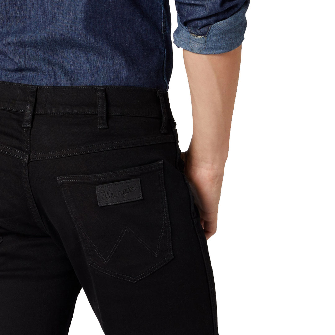 WRANGLER Greensboro Men Jeans Straight - Black Valley (W15Q-HP-19A)