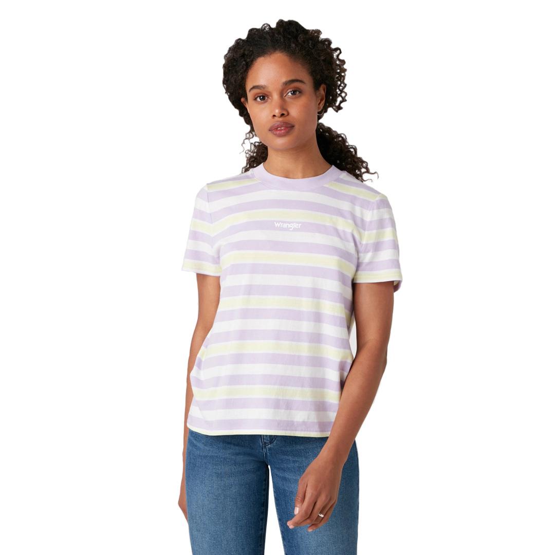 WRANGLER High Rib Women Tee - Pastel Violet (W7N9GHP26)
