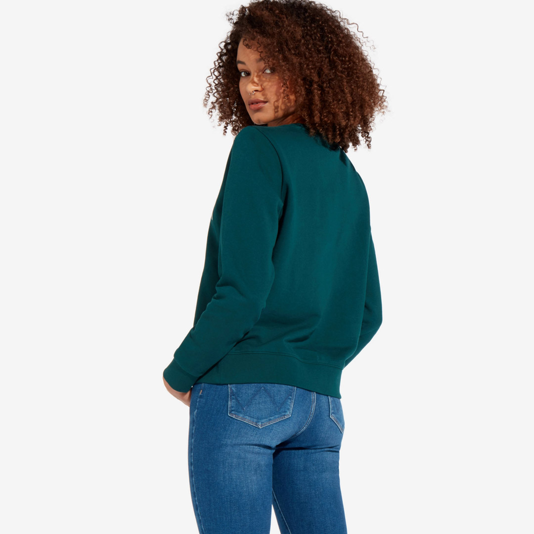 WRANGLER Logo Crew Women Sweatshirt - Pine Green (W6N2HAG01)
