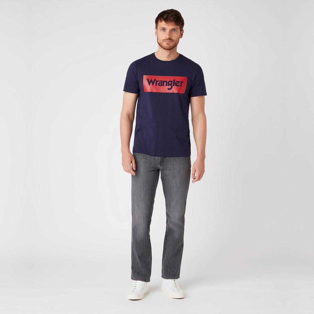 WRANGLER Logo T-Shirt for Men in Navy (W742FK114)