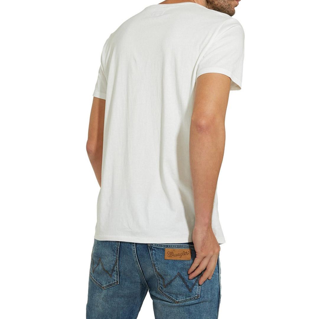 WRANGLER Mascotte Ανδρικό Μπλουζάκι Κοντό Μανίκι Λευκό (W7B35FK02)