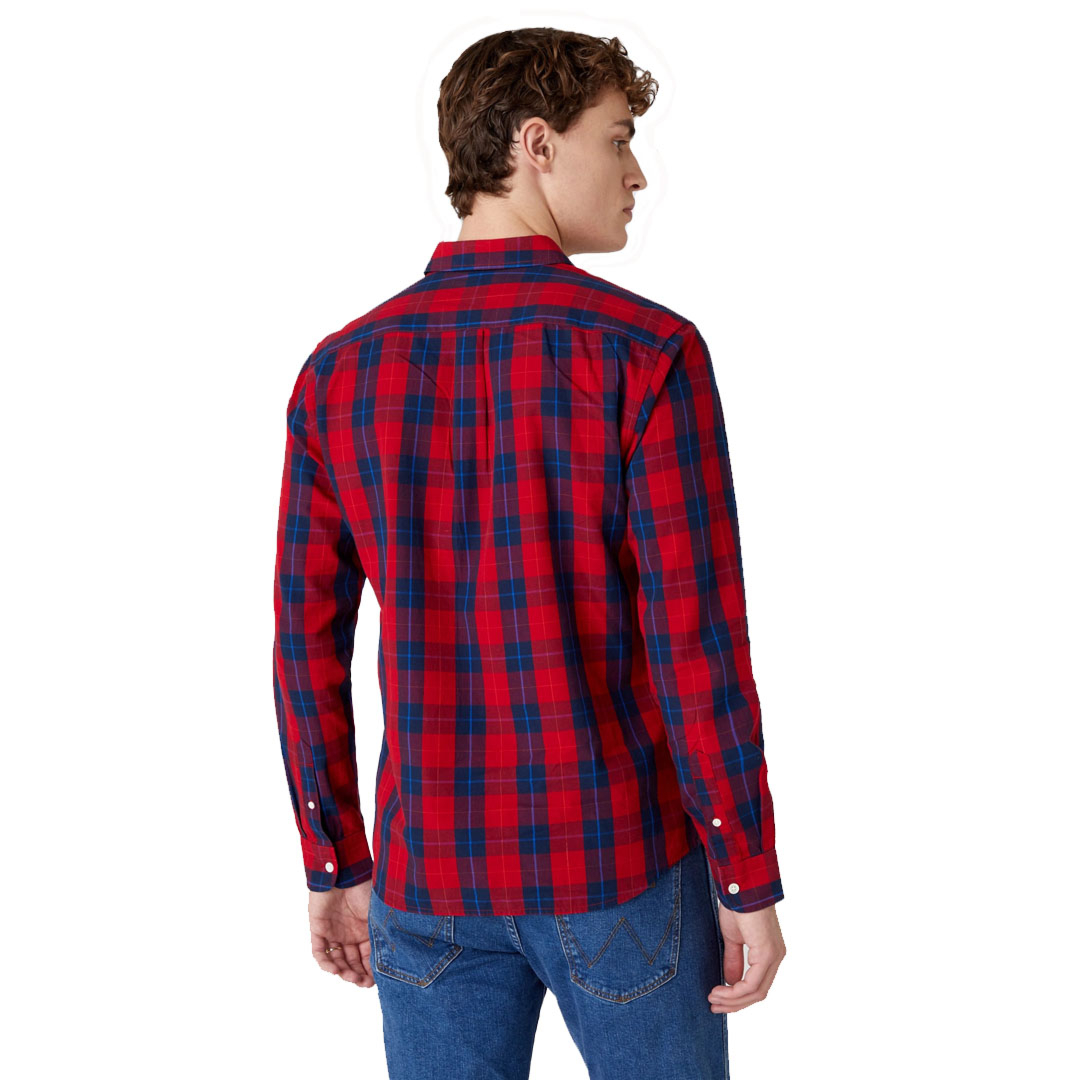 WRANGLER One Pocket Shirt - Mars Red (W5A14MX3A)