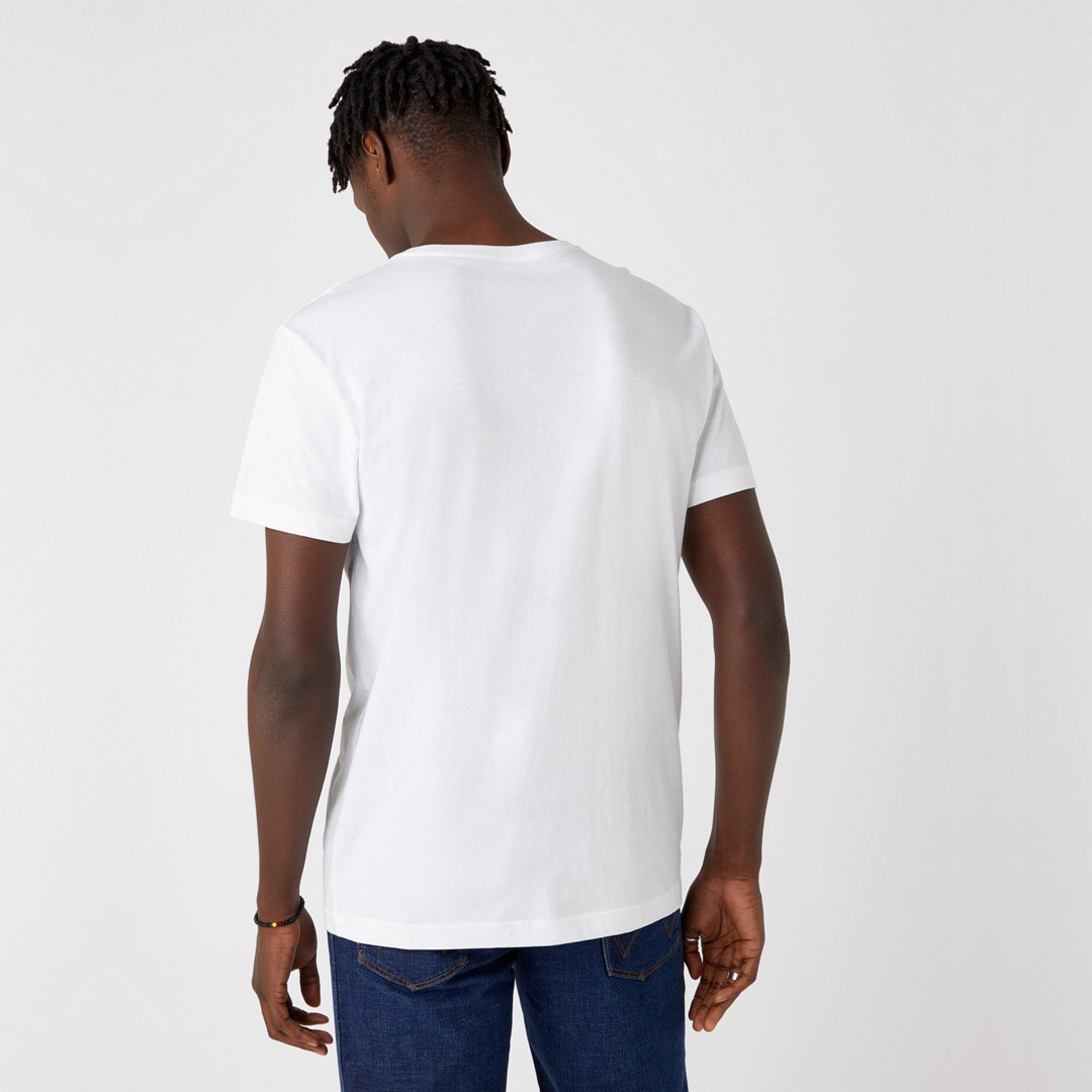 WRANGLER Photo W Men T-Shirt in Real White (W7G7D3XW1)