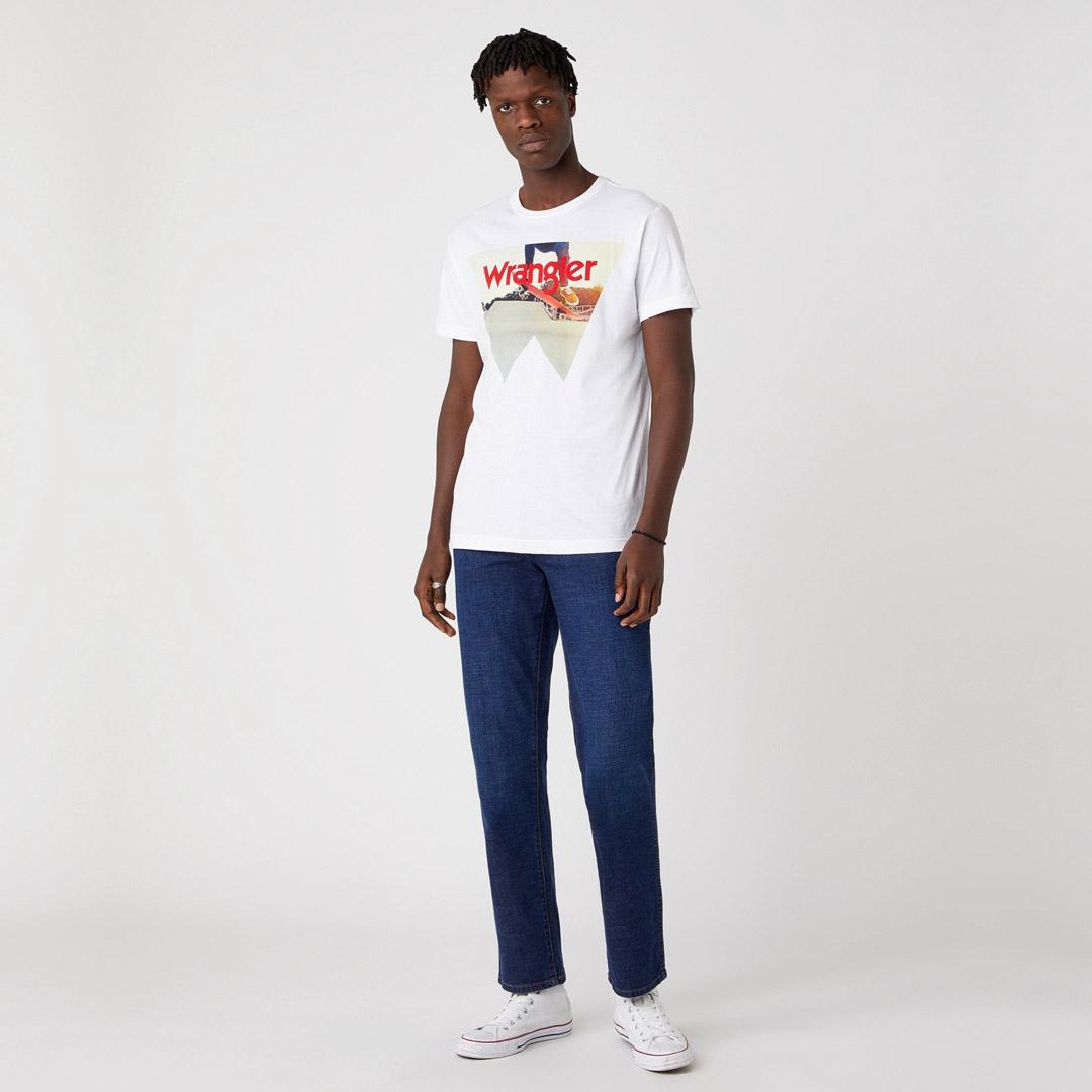 WRANGLER Ανδρική Μπλούζα με Στάμπα Λευκό (W7G7D3XW1)