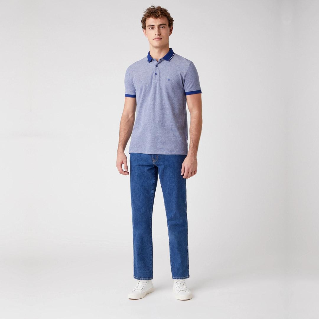 WRANGLER Refined Men Polo - Twilight Blue (W7AFKHX1F)