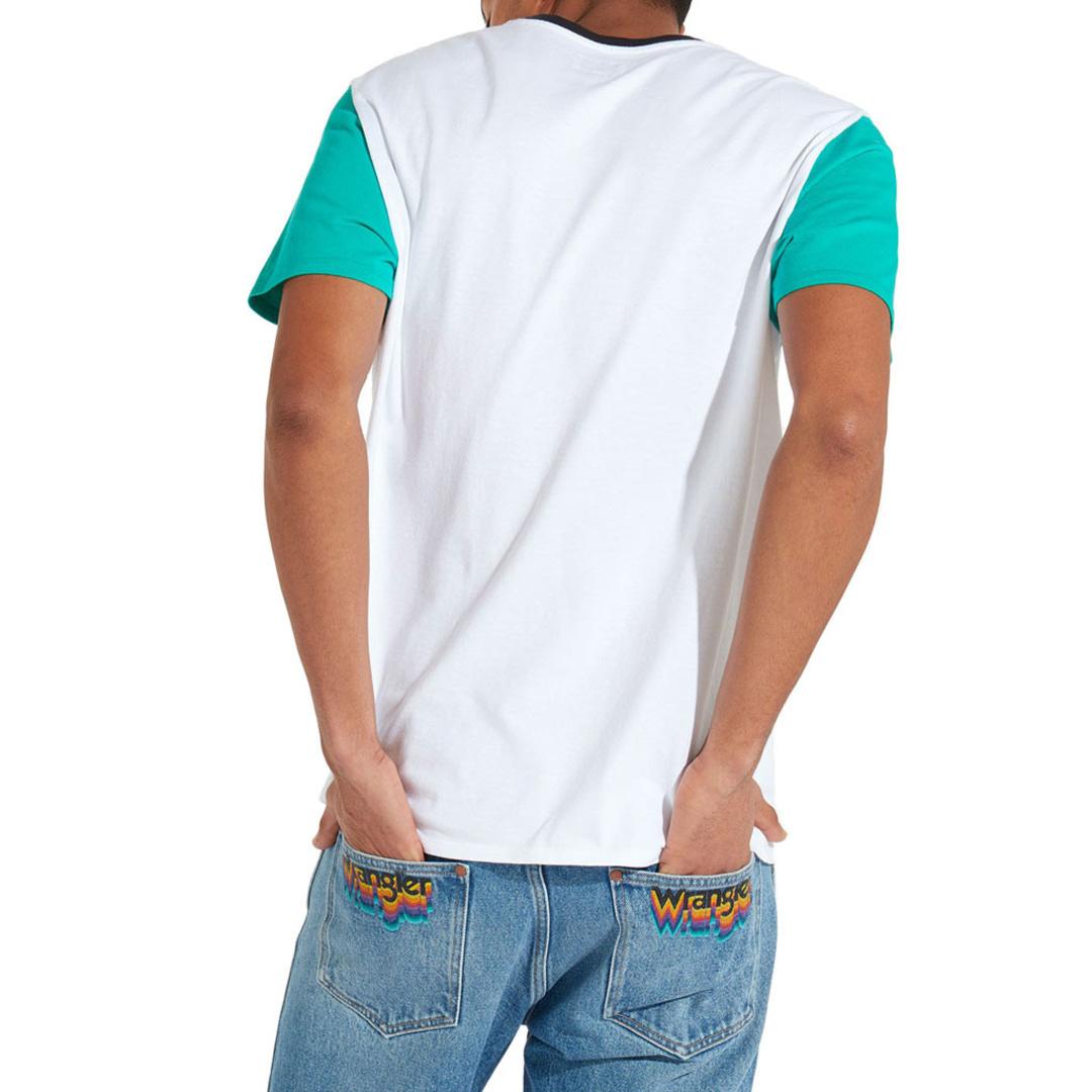 WRANGLER Μπλούζα Ανδρική Κοντό Μανίκι Λευκό (W7B66GN12)