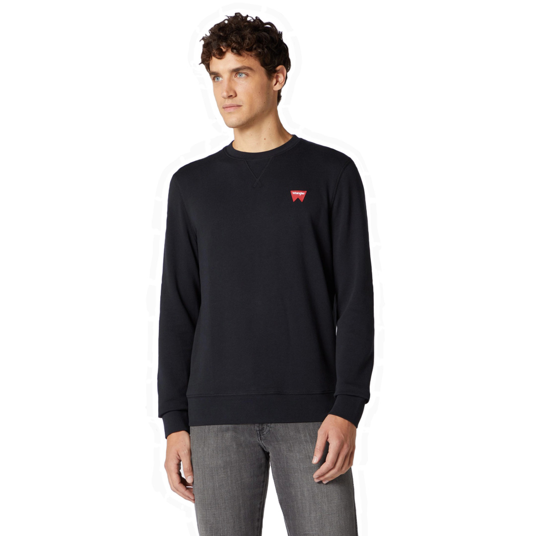 WRANGLER Sign Off Crew Sweat - Black (W658-9H-A01)