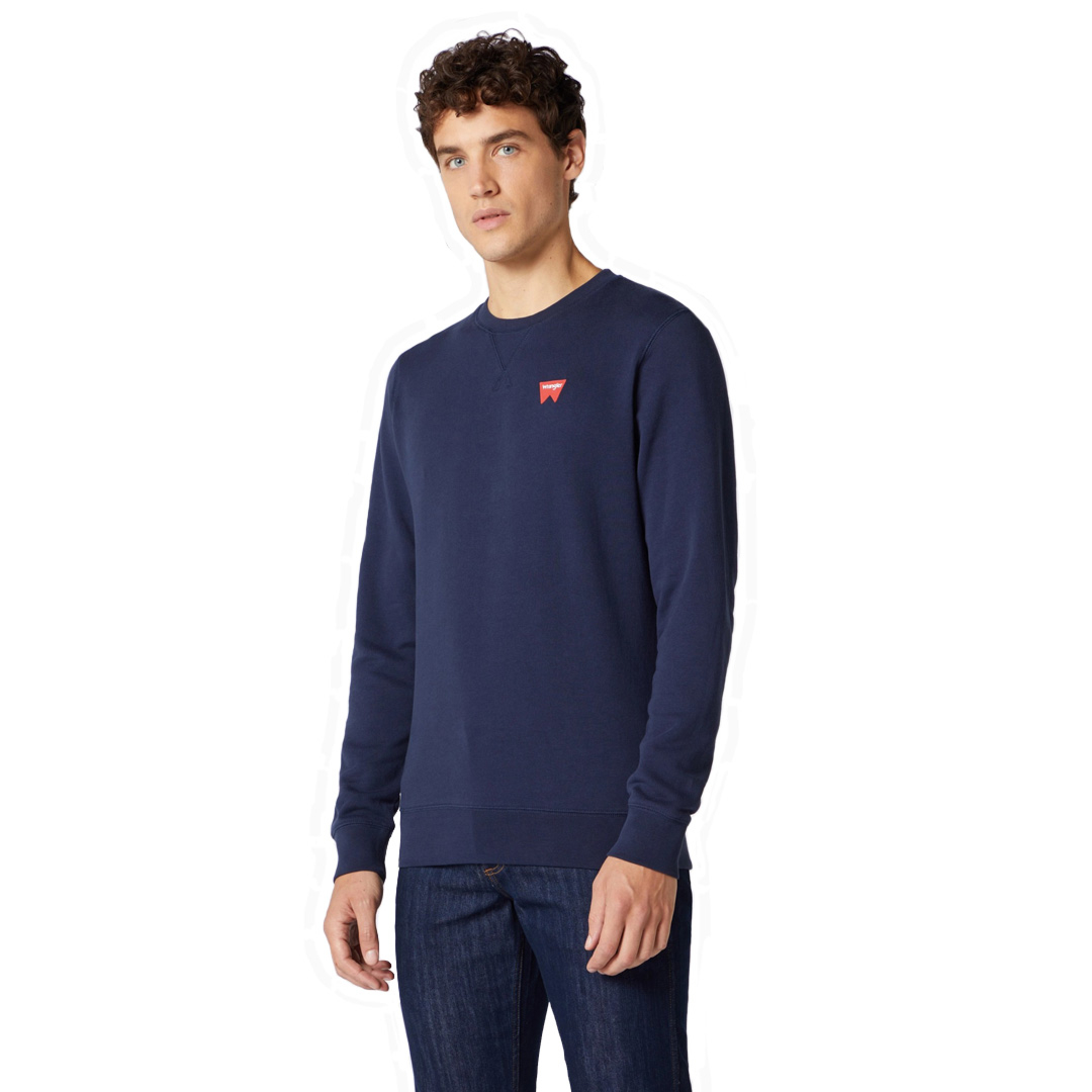 WRANGLER Sign Off Crew Sweat - Navy (W658-9H-A35)