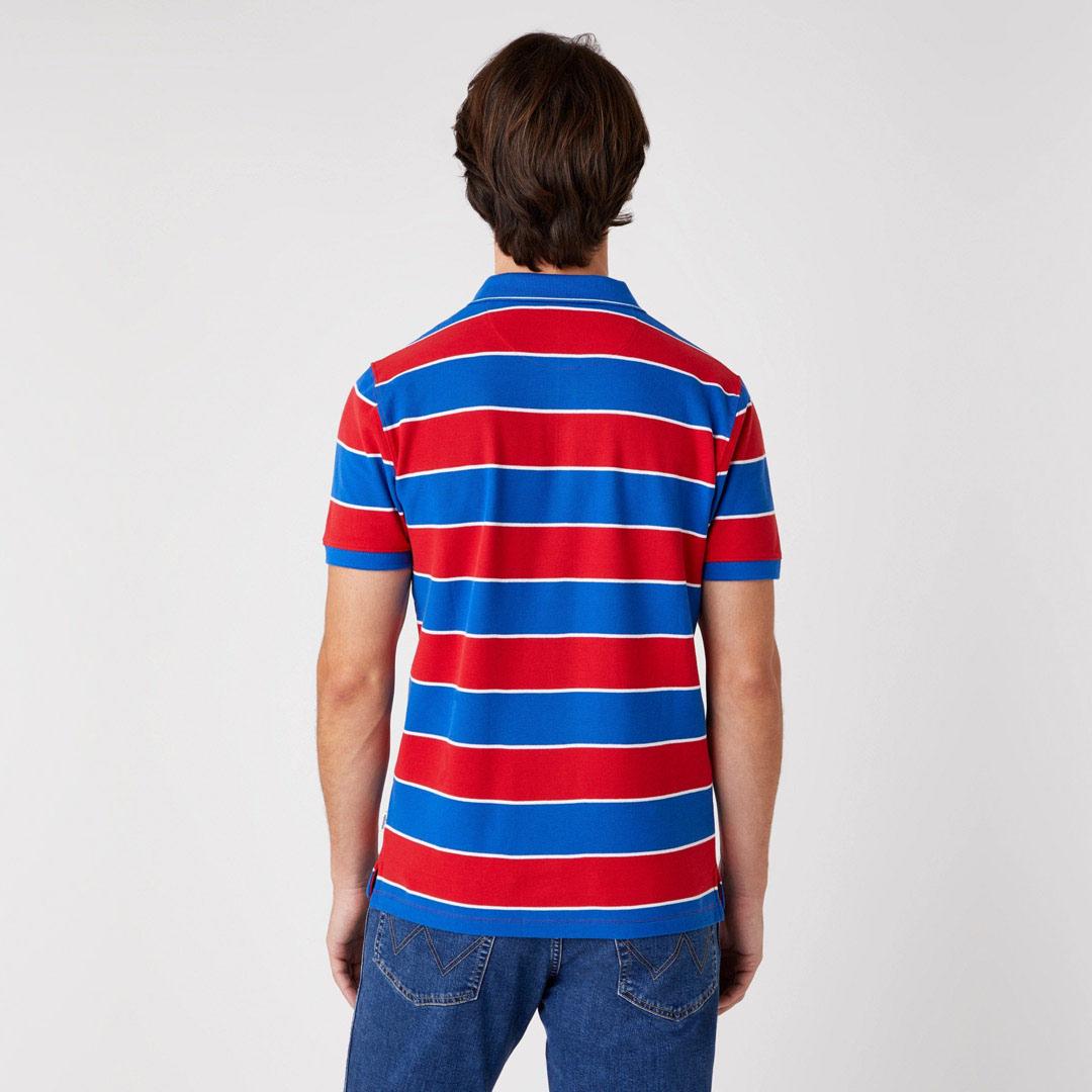 WRANGLER Πόλο Μπλουζάκι Ανδρικό Ριγέ - Κόκκινο Μπλε (W7ALKFXA4)