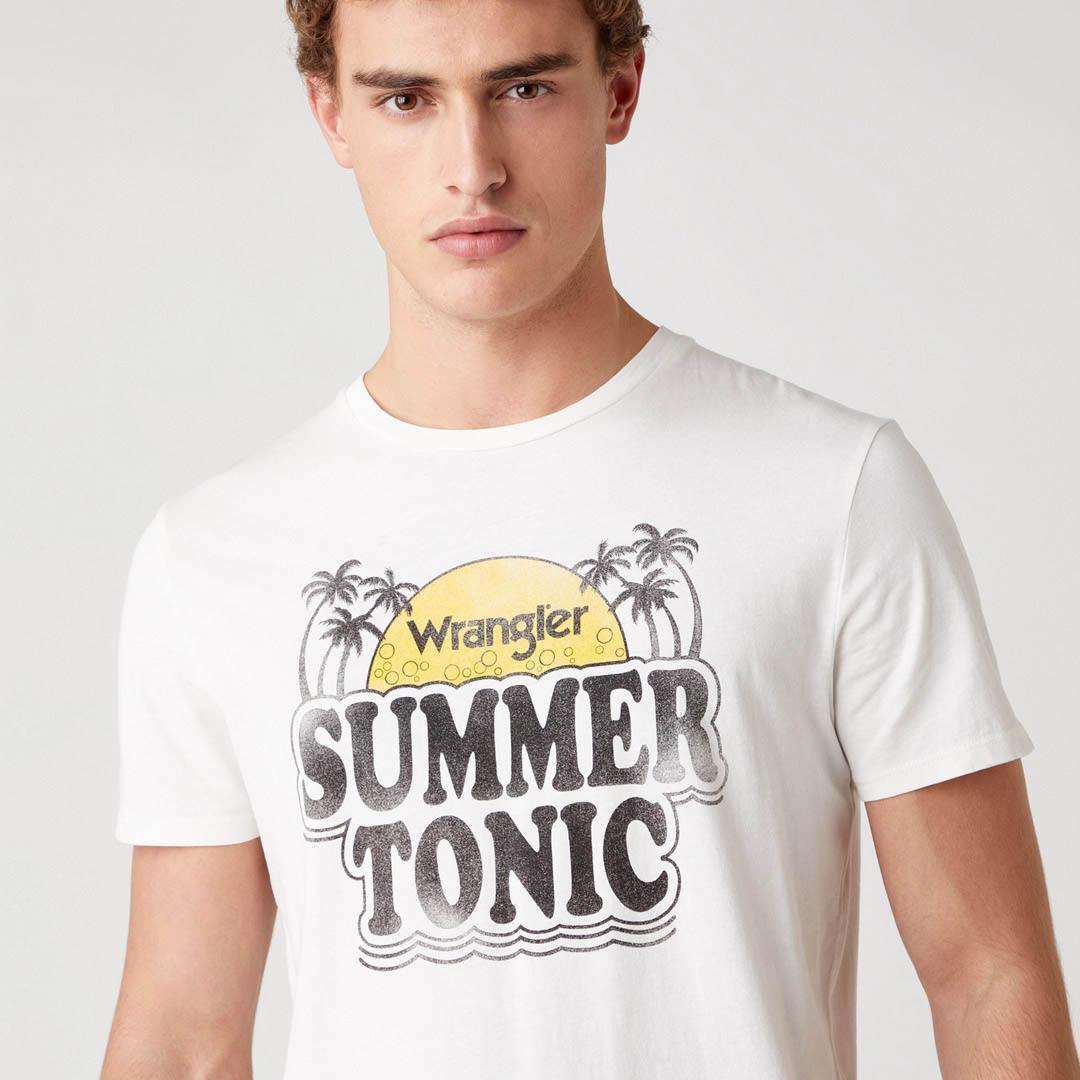 WRANGLER Summer Men T-Shirt in Off White (W7ATD3737)