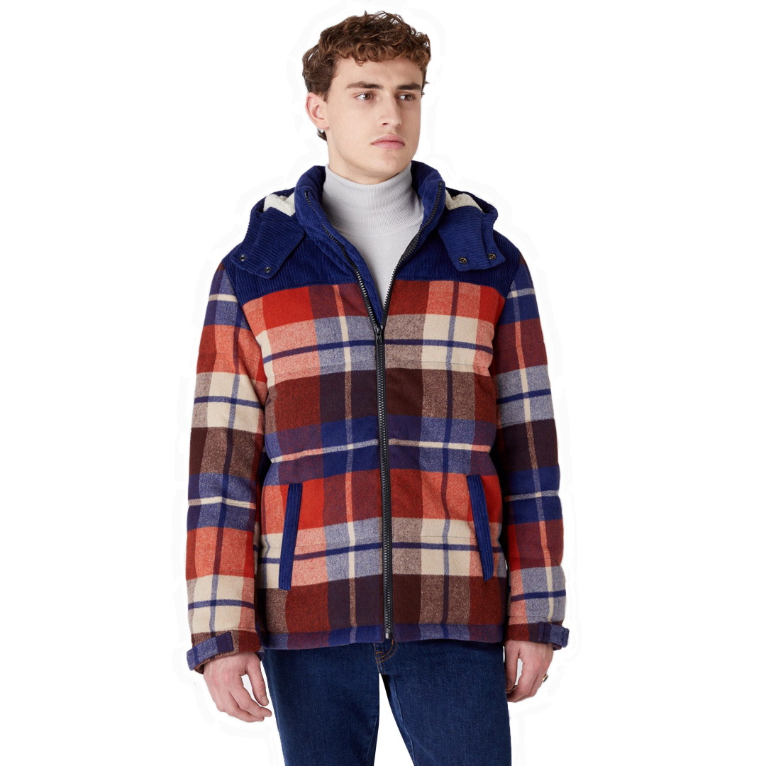 WRANGLER The Check Pop Over Jacket - Puce Brown (W4D3SGH06)