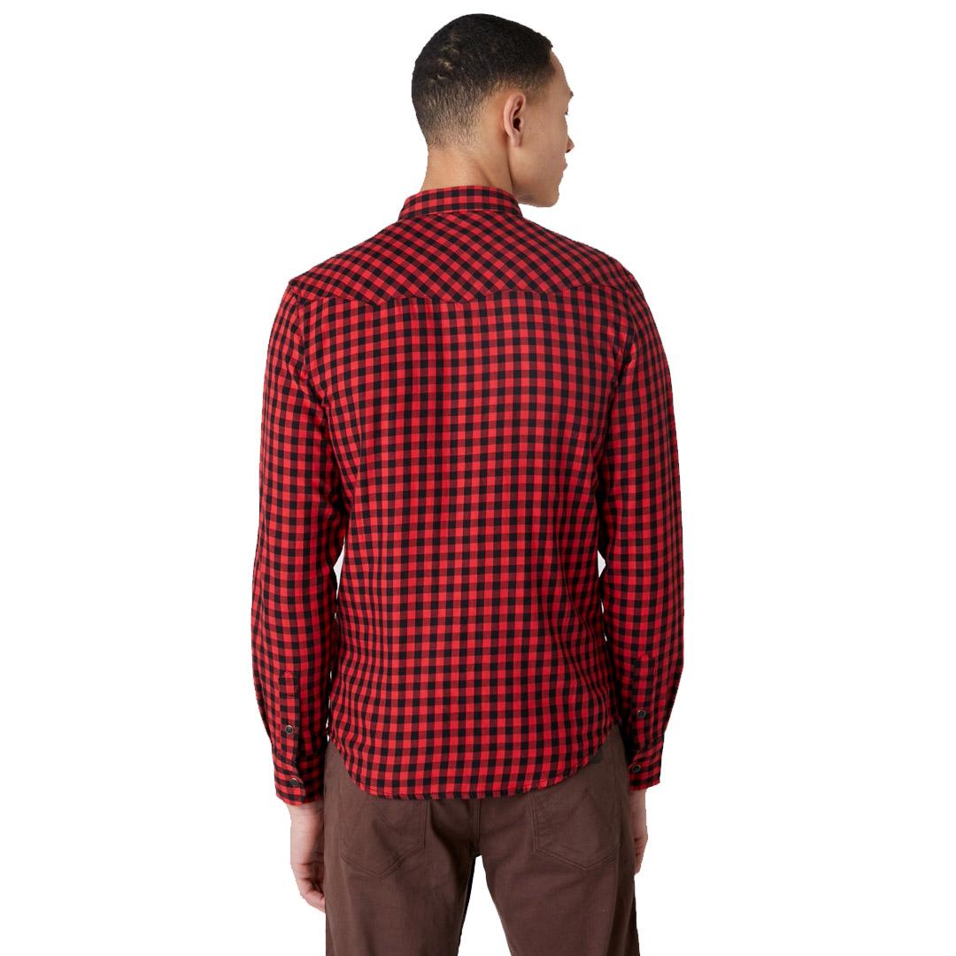 WRANGLER Long Sleele Western Men Shirt - Mars Red (W5F03OX3A)