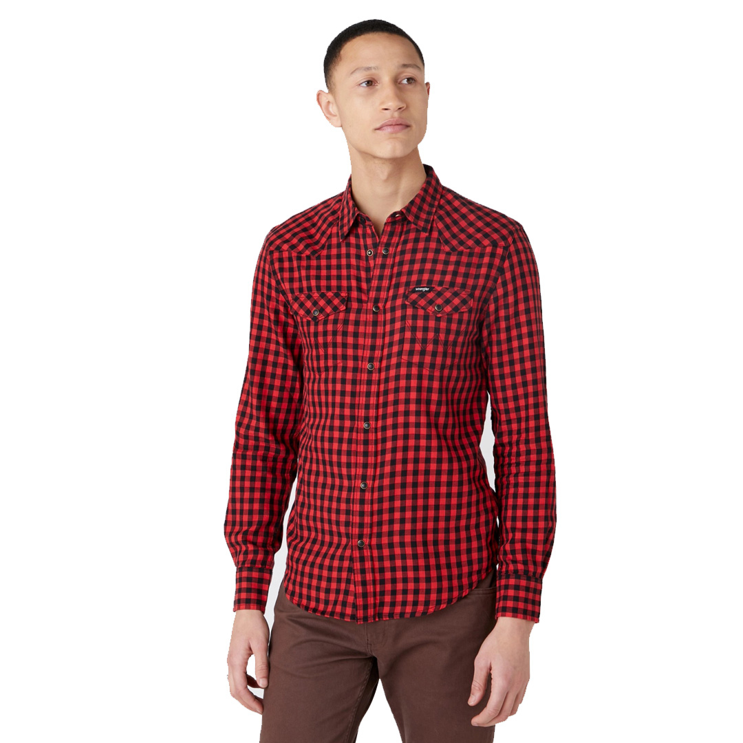 WRANGLER Western Men Shirt - Mars Red (W5F03OX3A)